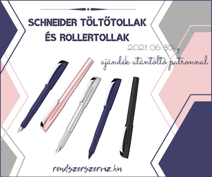 Schneider töltőtollak, rollertollak